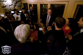 Tiburon Holiday Party Crowd Entertained by Conjuror Jeffrey Korst