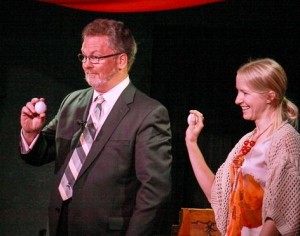 Holiday Party Guest Delighted by SF East Bay Magician Jeffrey Korst